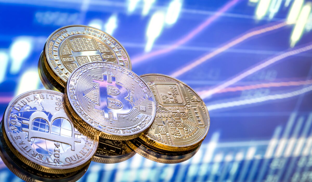 bitcoin-is-new-concept-virtual-money-graphics-digital-background-coins-with-image-letter-b-min