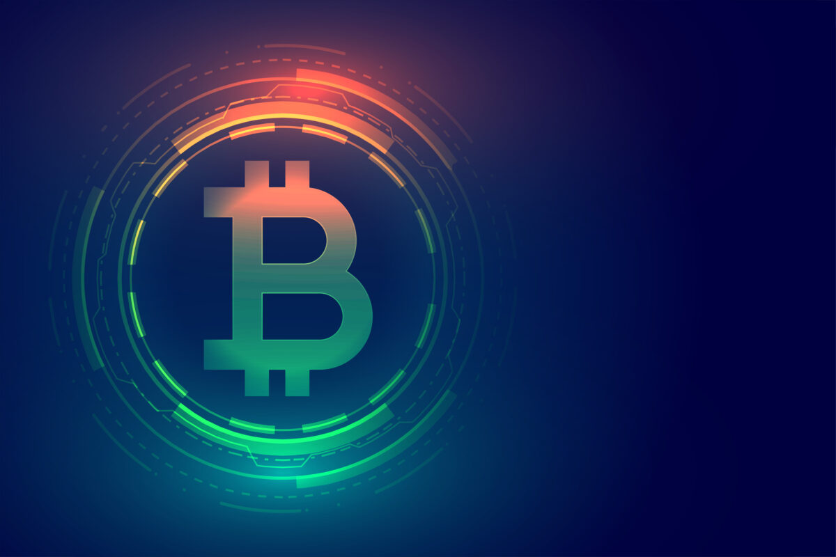 digital bitcoin technology concept background design