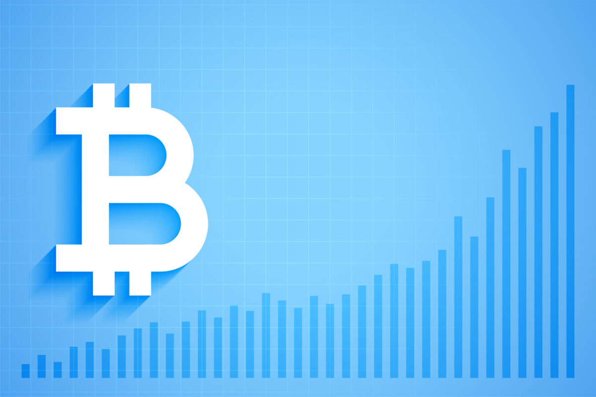 bitcoin digital crypto currency growth graph chart